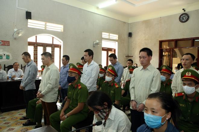 TAND tỉnh Điện Biên xét xử công khai 14 bị cáo vì có các hoạt động tuyên truyền, chống phá Nhà nước xảy ra tại huyện Mường Nhé. Ảnh: Vũ Lợi/VOV- Tây Bắc