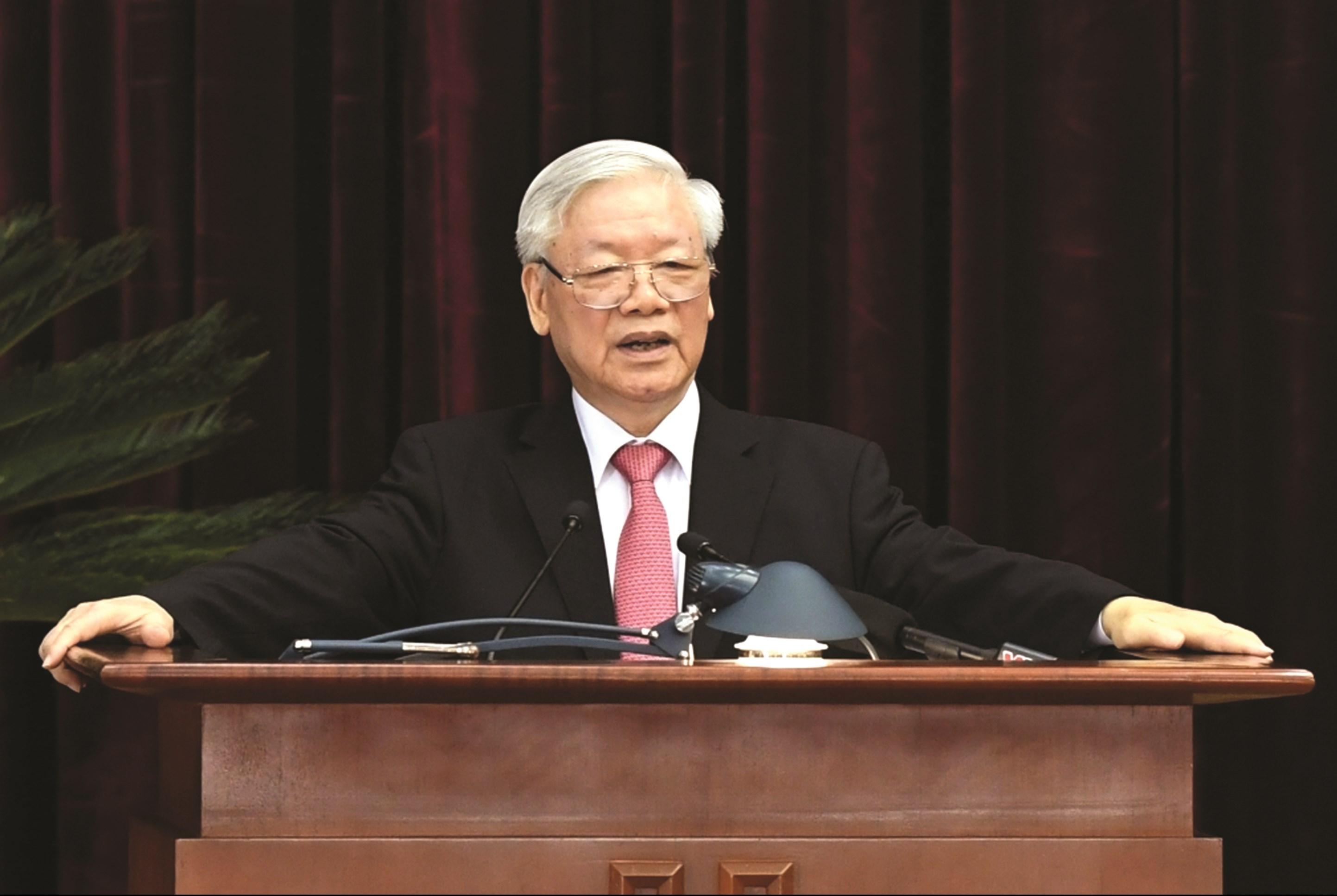 Tổng Bí thư, Chủ tịch nước Nguyễn Phú Trọng phát biểu khai mạc Hội nghị.