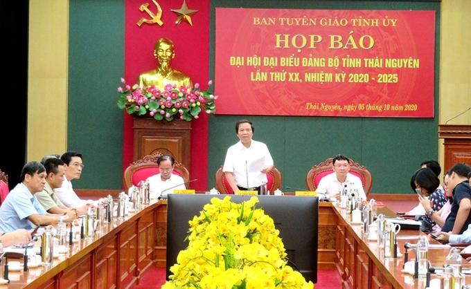 Hình ảnh tại buổi họp báo thông tin Đại hội Đảng bộ tỉnh Thái Nguyên.