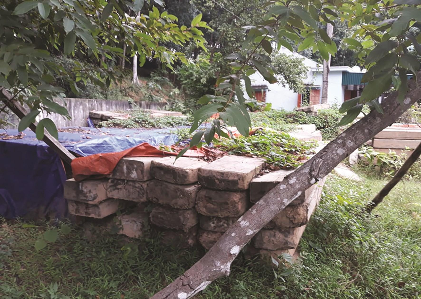 Số gỗ tập kết tại BQL rừng phòng hộ Kỳ Sơn từ năm 2017 đến nay đã dấu hiệu mục ruỗng, hư hỏng