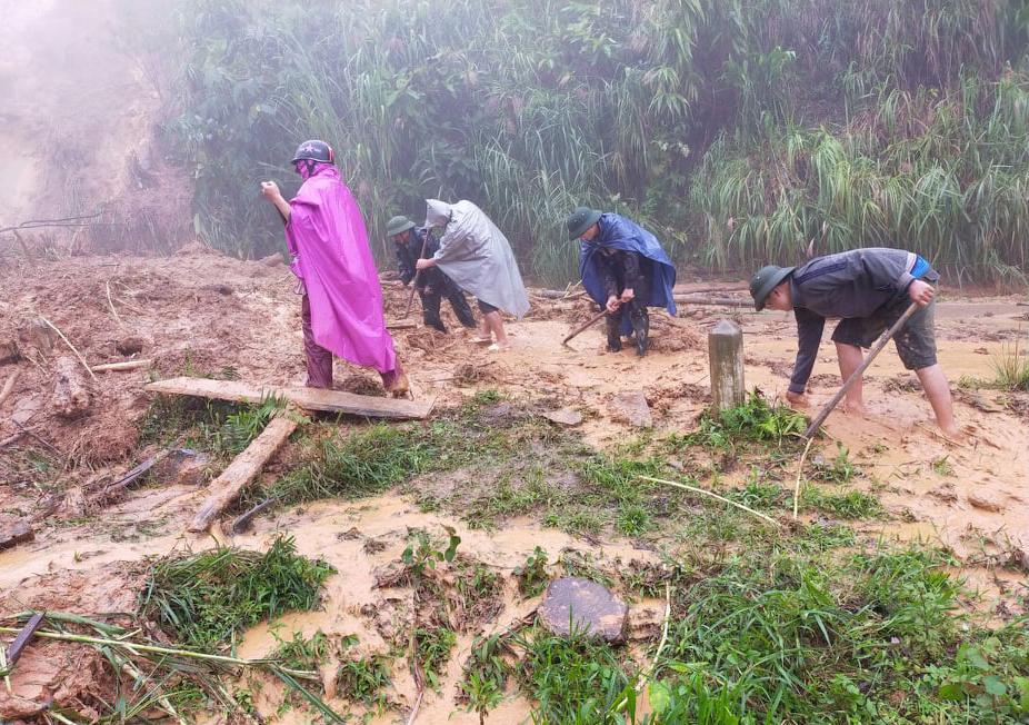 Sạt lở tại xã Na Ngoi huyện Kì Sơn (tháng 9/2020)