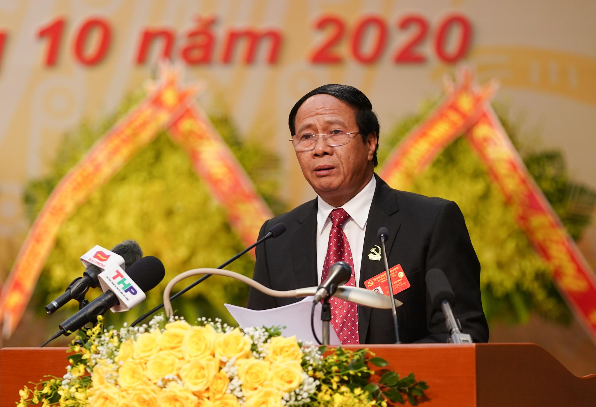Bí thư Thành ủy Hải Phòng Lê Văn Thành phát biểu khai mạc. Ảnh: VGP/Quang Hiếu