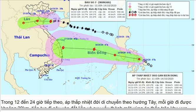 Áp thấp nhiệt đới mới có khả năng mạnh lên thành bão số 8