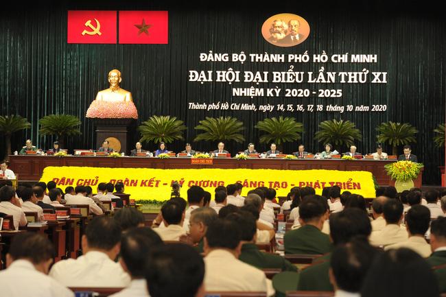 Quang cảnh Đại hội đại biểu Đảng bộ TPHCM lần thứ XI