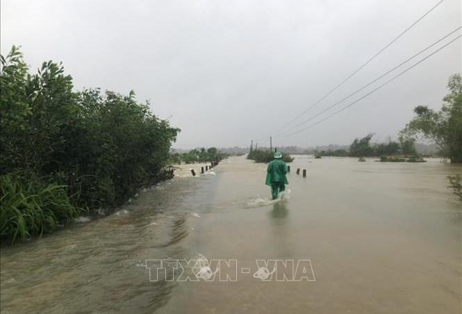 Một điểm cầu tràn trên địa bàn huyện Hương Khê bị ngập sâu
