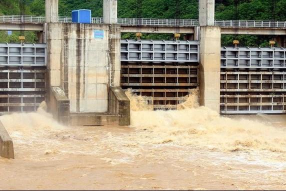Thủy điện bản Ang xã Xá Lượng huyện Tương Dương (Nghệ An) đã xả lũ - ảnh tư liệu