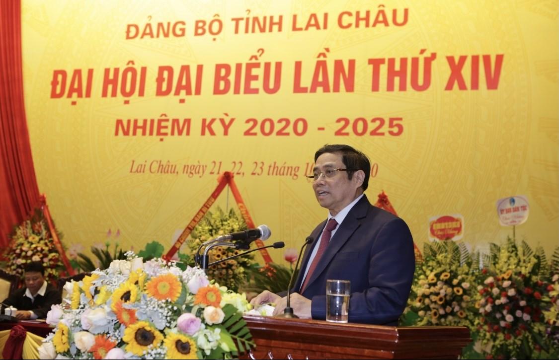 Đồng chí Phạm Minh Chính phát biểu chỉ đạo tại Đại hội