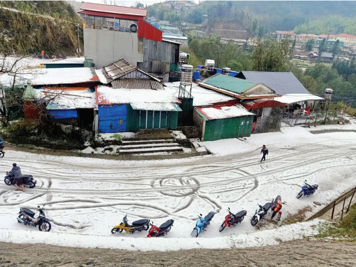 Từ đầu năm đến nay, nhiều địa phương bị thiệt hại do mưa đá