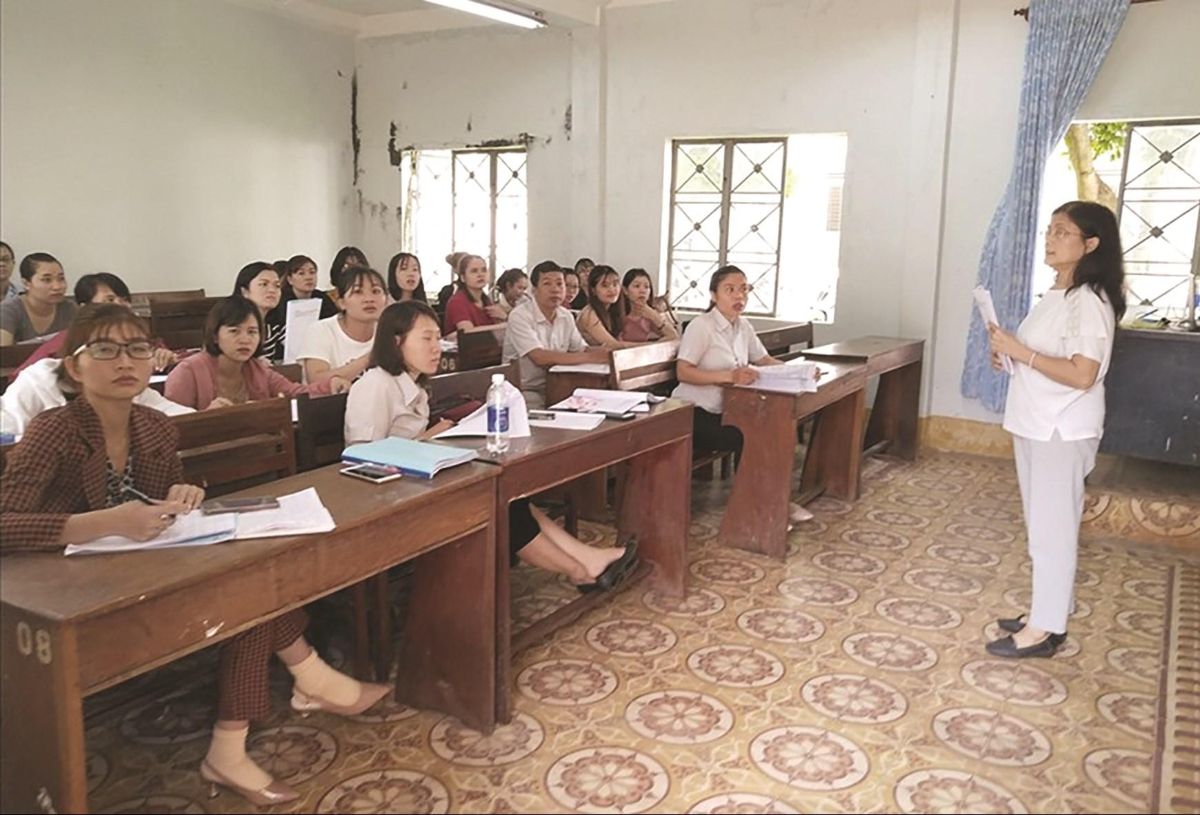 Từ năm 2018 đến nay, Trường CĐSP Gia Lai thiếu sinh viên, giảng viên phải đi biệt phái dạy học ở vùng xa. (Ảnh Thanh Tuấn)