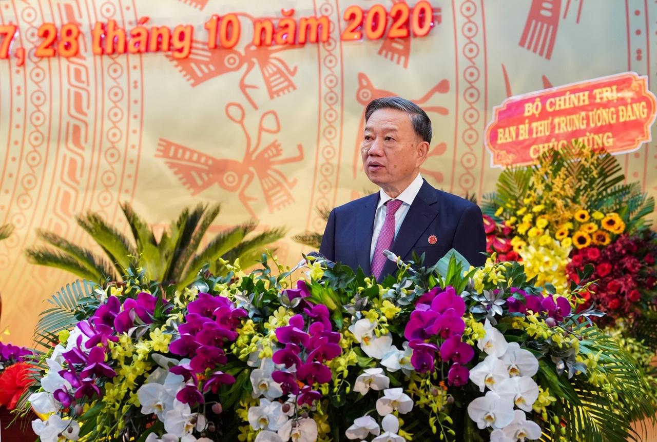 Đại tướng Tô Lâm, Bộ trưởng Bộ Công An phát biểu chỉ đạo Đại hội