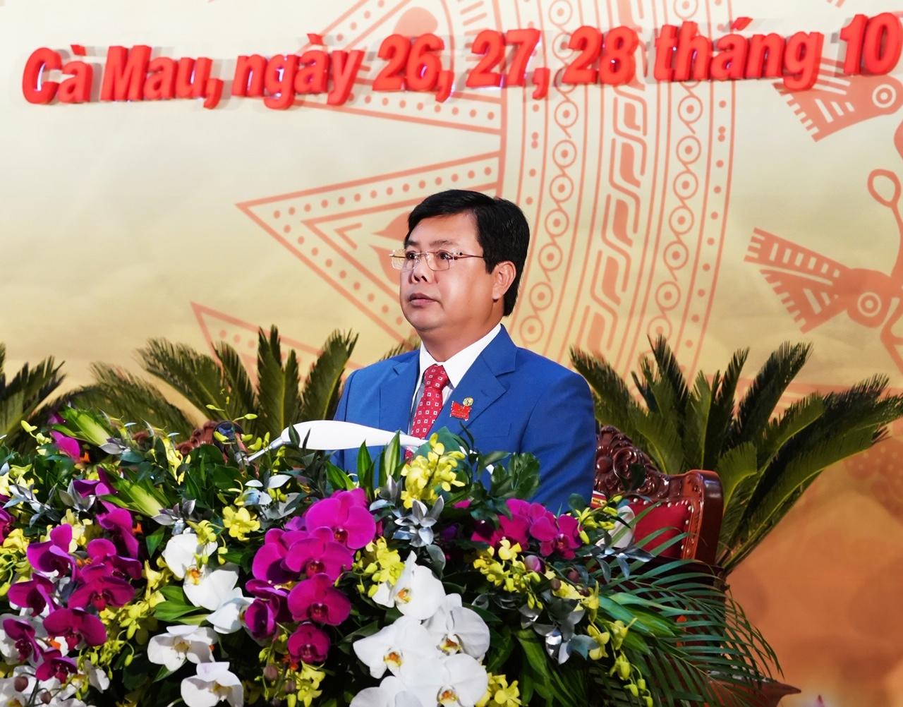 Bí thư Tỉnh uỷ Nguyễn Tiến Hải phát biểu khai mạc Đại hội