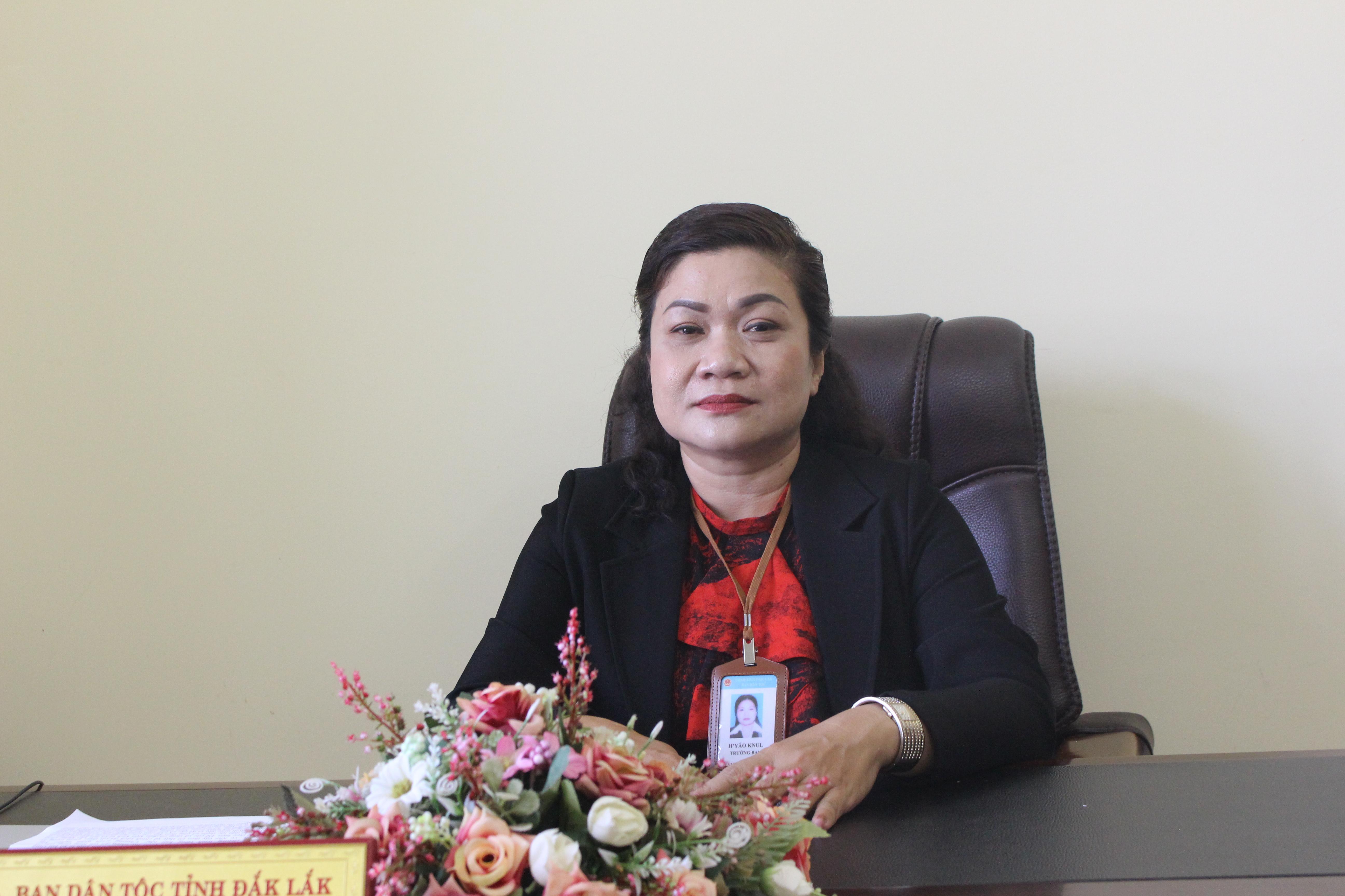 Bà H'Yâo Knul, Trưởng Ban Dân tộc Đăk Lăk