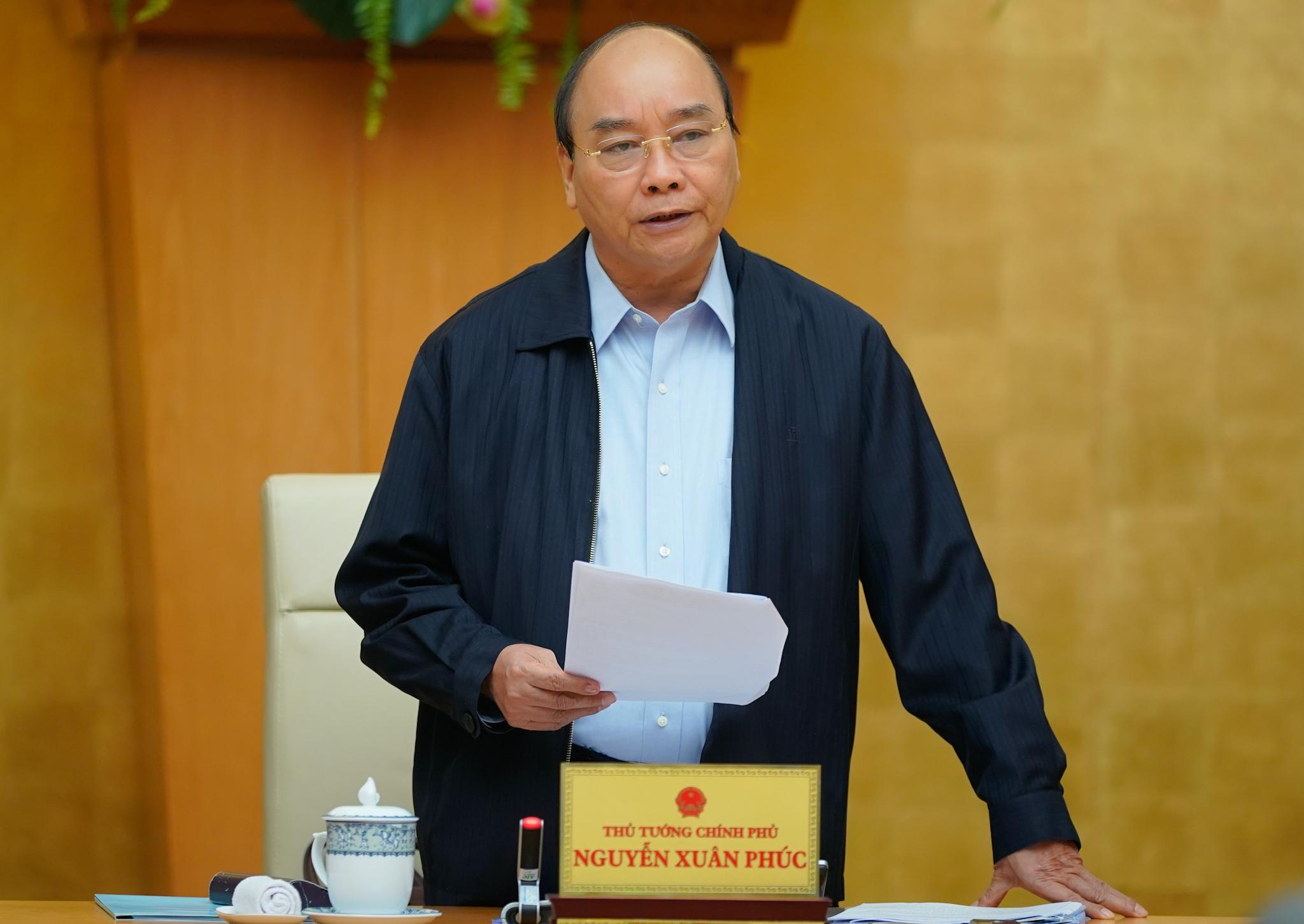 Thủ tướng Nguyễn Xuân Phúc nhấn mạnh: Cương quyết thay cán bộ không biết làm việc, tiêu cực, lợi ích nhóm. Ảnh: VGP/Quang Hiếu