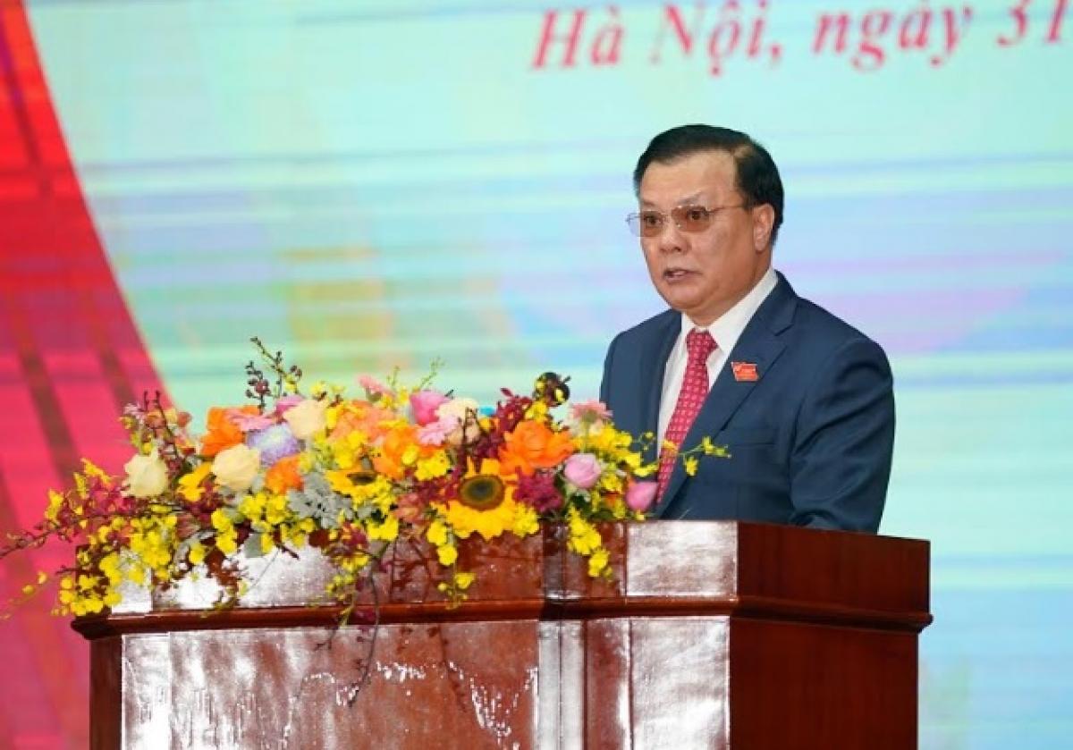 Bộ trưởng Tài chính Đinh Tiến Dũng phát biểu tại hội nghị.