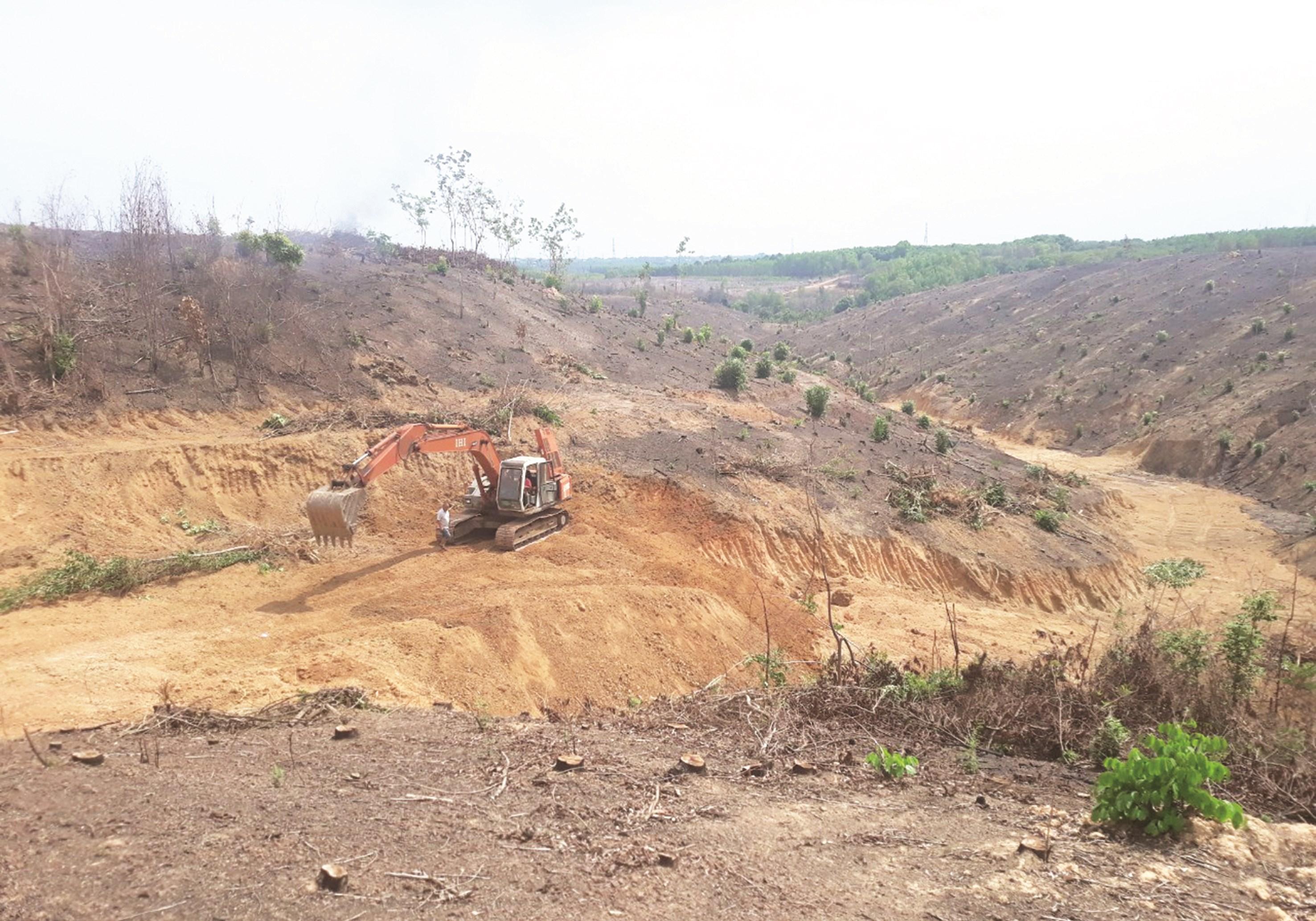 Khu đất nhà bà Mai vẫn còn tranh chấp được giao cho Công ty Phú An Lành làm khu dân cư