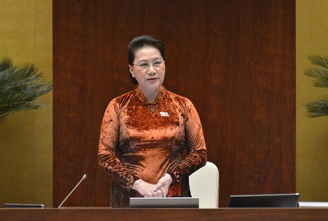 Chủ tịch Quốc hội Nguyễn Thị Kim Ngân phát biểu kết thúc nội dung chất vấn và trả lời chất vấn.