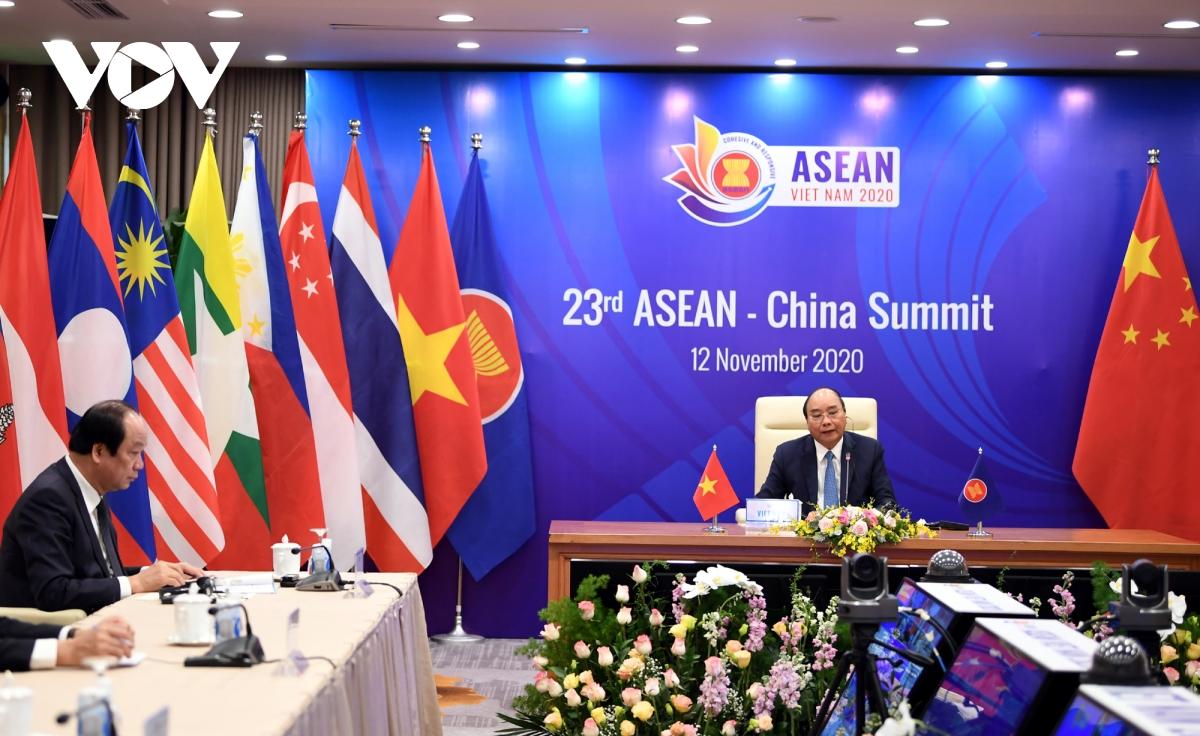 Thủ tướng Nguyễn Xuân Phúc phát biểu tại Hội nghị Cấp cao ASEAN-Trung Quốc