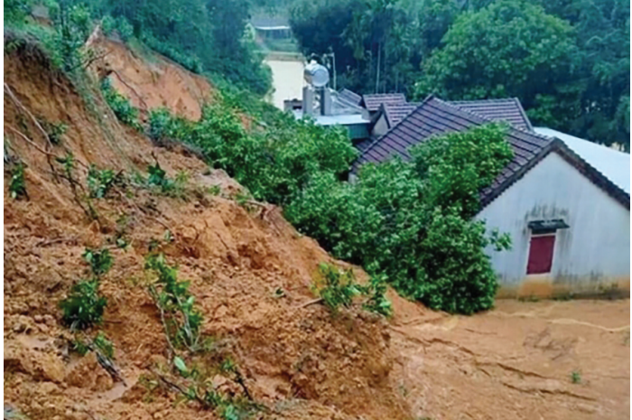 Sạt lở tại địa bàn xã Cao Sơn, huyện Anh Sơn tháng 10/2020