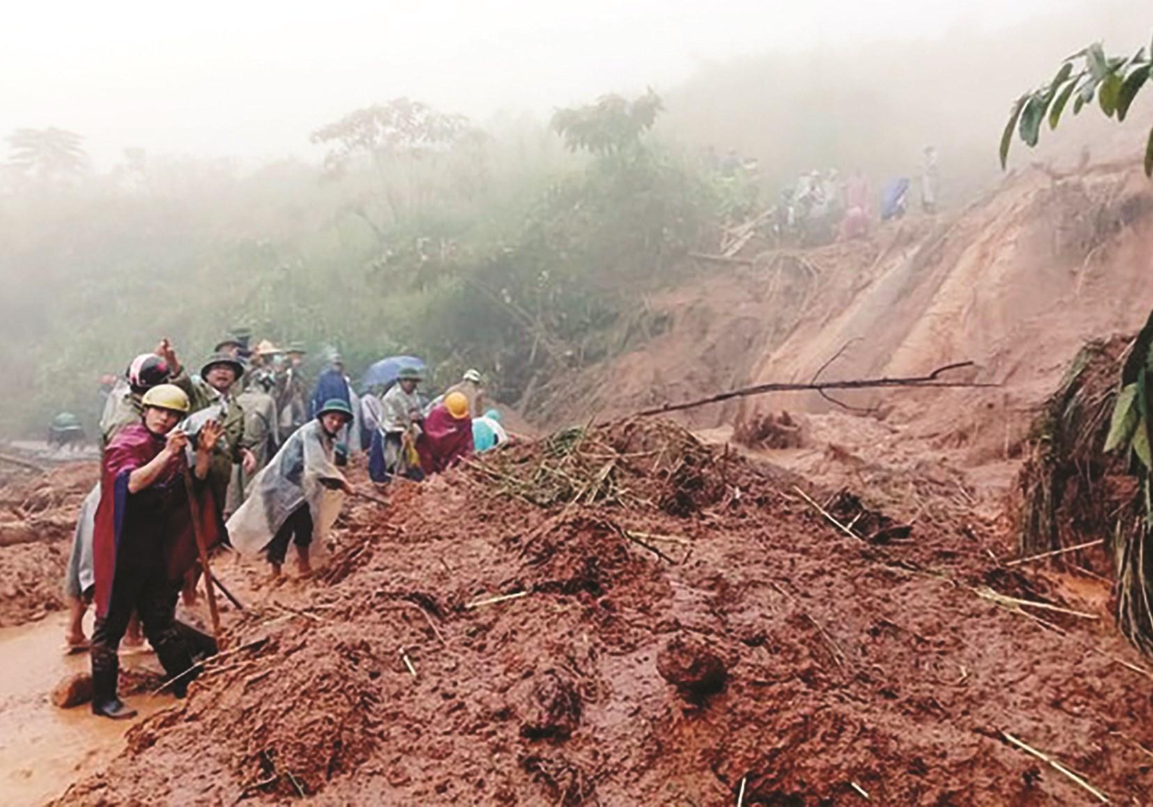 Sạt lở tại xã Na Ngoi, huyện Kỳ Sơn tháng 9/2020