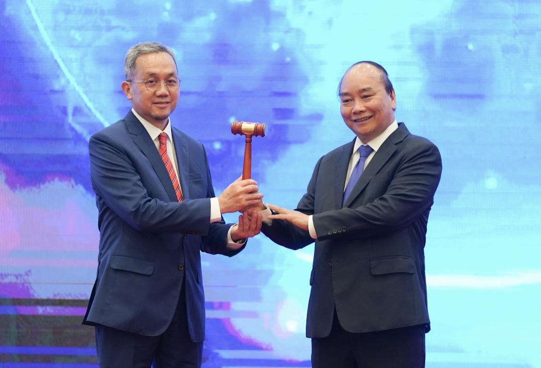 Lễ chuyển giao vai trò Chủ tịch ASEAN cho Brunei. Ảnh: VGP/Quang Hiếu