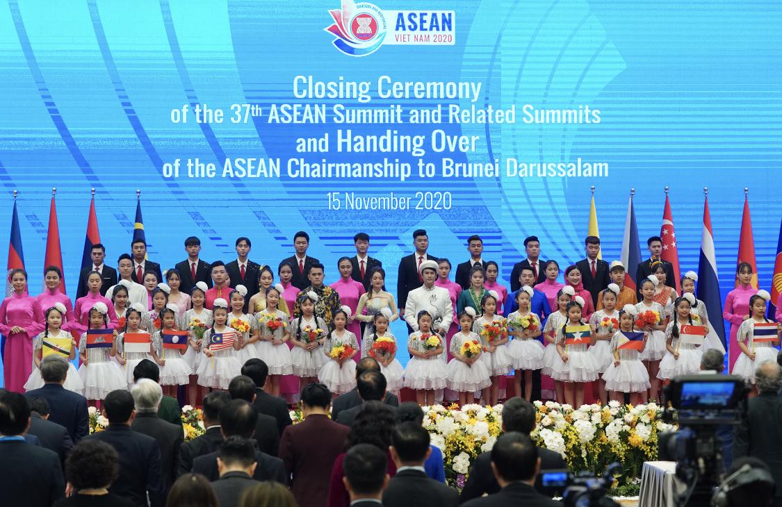 Lễ bế mạc Hội nghị Cấp cao ASEAN 37 và các hội nghị liên quan. Ảnh: Quang Hiếu