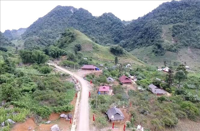 Những mái ấm tình thương trên địa bàn huyện Vân Hồ, tỉnh Sơn La. Ảnh: Nguyễn Cường/TTXVN