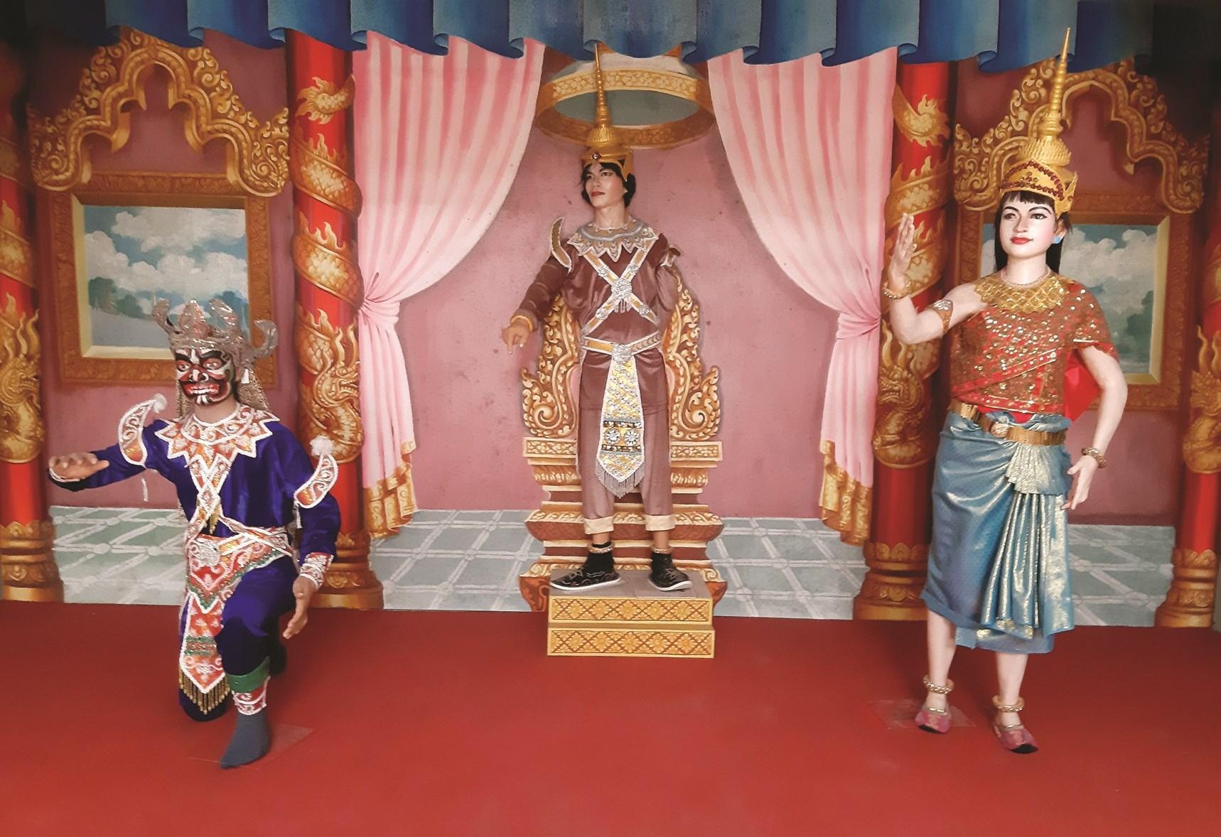 Mô hình tái hiện lại không gian nghệ thuật sân khấu kịch múa Rô băm