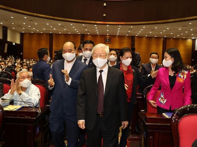 Tổng Bí thư, Chủ tịch nước Nguyễn Phú Trọng và các Lãnh đạo Đảng, Nhà nước tới dự Hội nghị