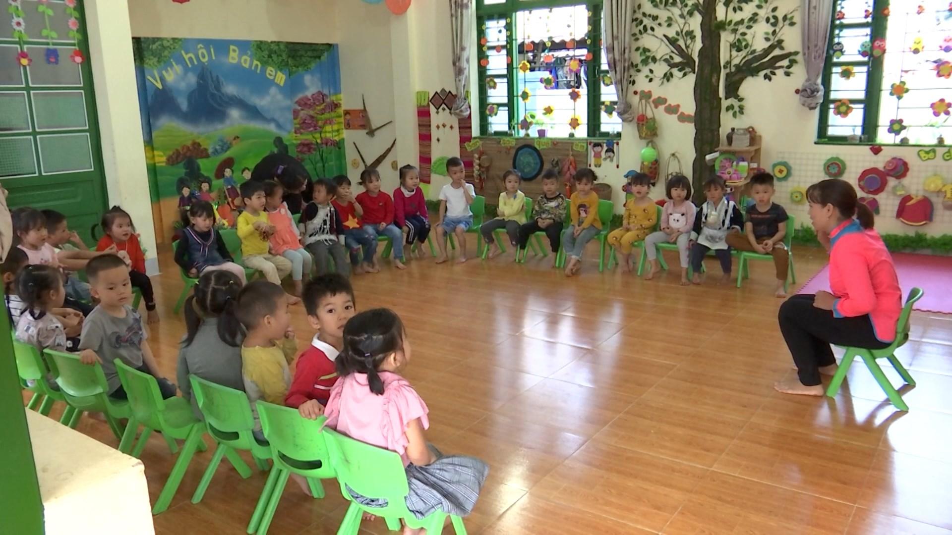 Lớp học tại trường Mầm non Trịnh Tường