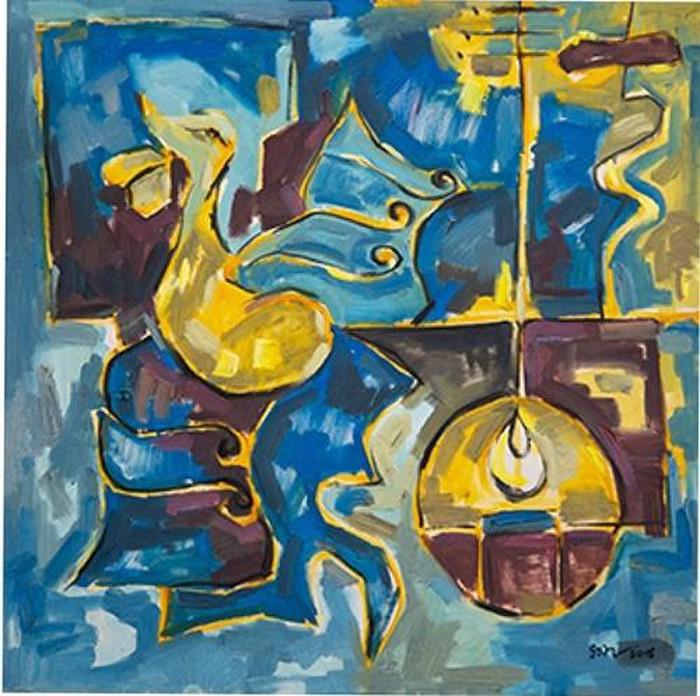 Tranh sơn dầu ''Tiếng sắt, tiếng vàng'' của họa sĩ Nguyễn Tuấn Sơn