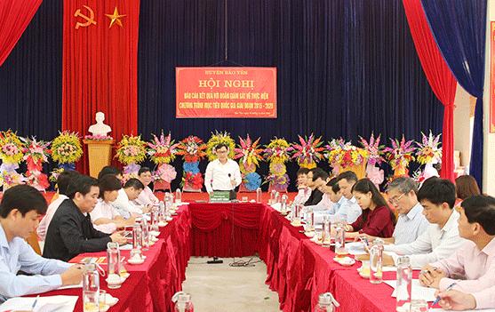 Tổng Giám đốc Dương Quyết Thắng làm việc với Huyện ủy, UBND huyện Bảo Yên và xã Phúc Khánh