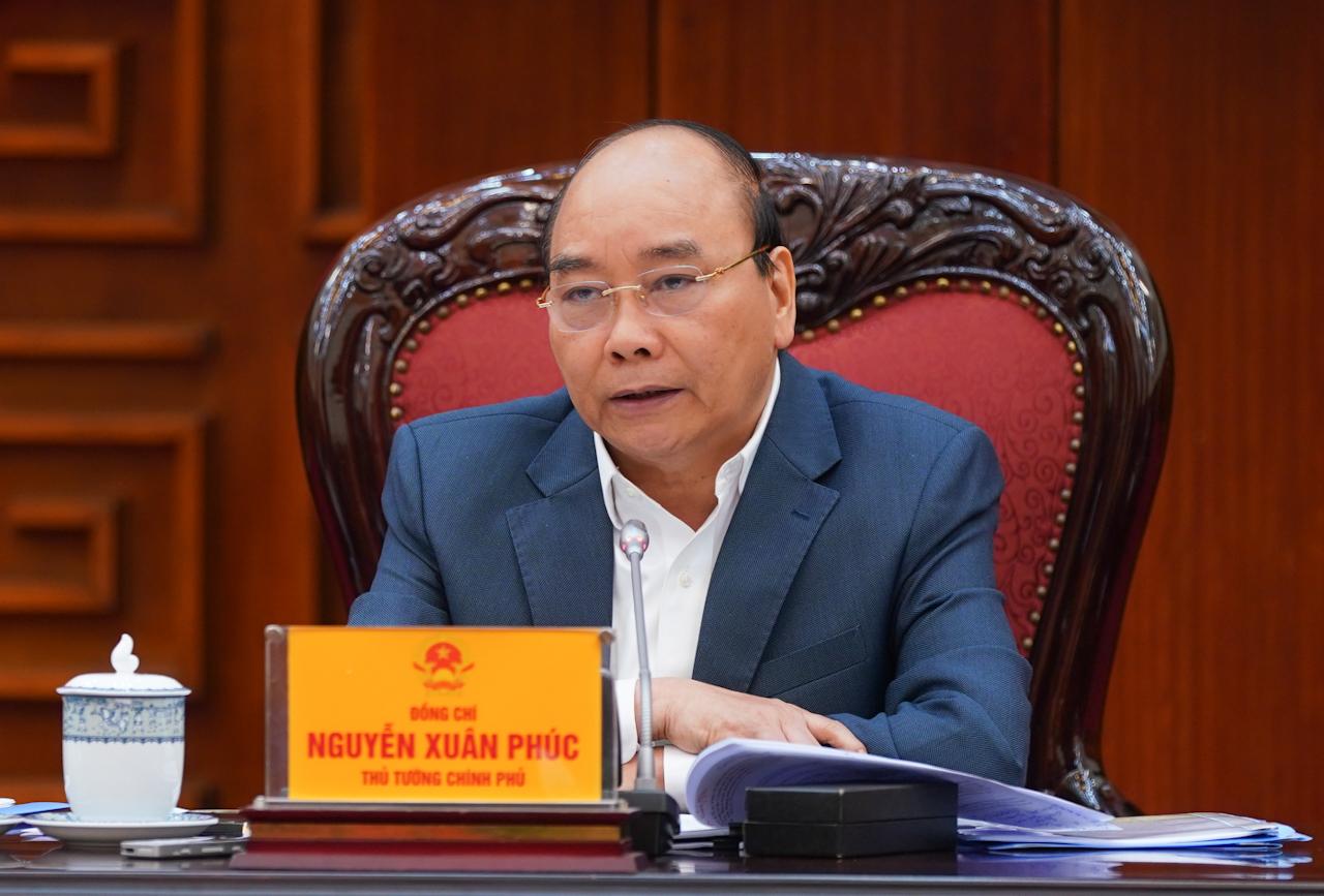 Thủ tướng Chính phủ Nguyễn Xuân Phúc phát biểu tại cuộc họp