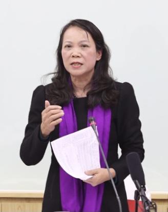Thứ trưởng, Phó Chủ nhiệm UBDT Hoàng Thị Hạnh, Phó trưởng BTC Đại hội đại biểu toàn quốc các DTTS Việt Nam lần thứ II
