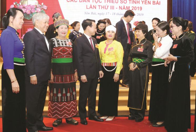 Bộ trưởng, Chủ nhiệm Ủy ban Dân tộc Đỗ Văn Chiến dự Đại hội Đại biểu các DTTS tỉnh Yên Bái lần thứ III.