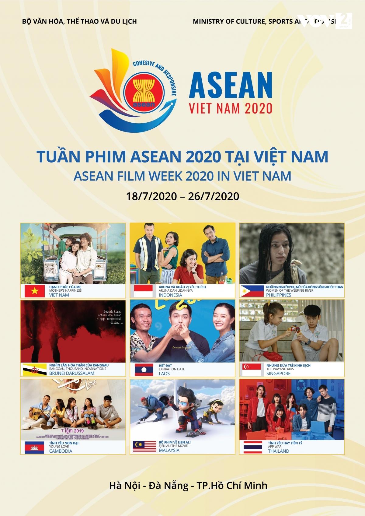 Tuần phim ASEAN là cơ hội để các quốc gia giới thiệu các bộ phim điện ảnh đặc sắc, giúp các nền văn hóa khác nhau trong khu vực hòa hợp.