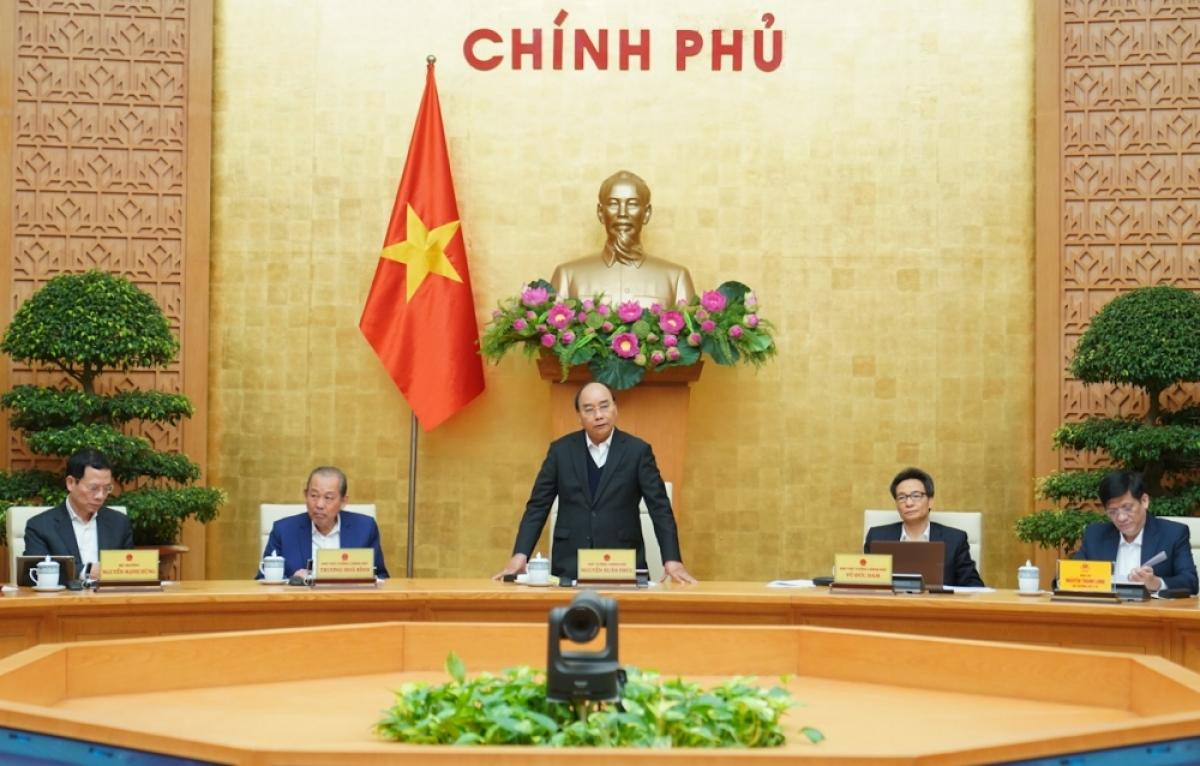 Thủ tướng Nguyễn Xuân Phúc gửi thông điệp đặc biệt tại phiên họp Đại hội đồng Liên Hợp Quốc về ứng phó đại dịch COVID-19. (Ảnh VGP/Quang Hiếu)