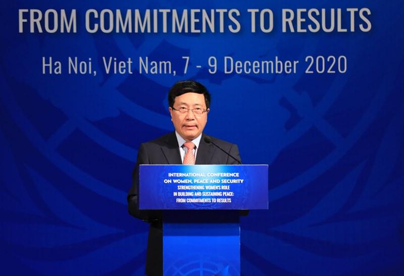 Phó Thủ tướng Phạm Bình Minh phát biểu tại Hội nghị. Ảnh: VGP/Hải Minh