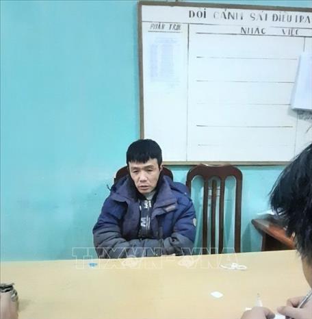 Đối tượng Chu Viết Tuấn khai nhận hành vi phạm tội tại Cơ quan Cảnh sát điều tra.