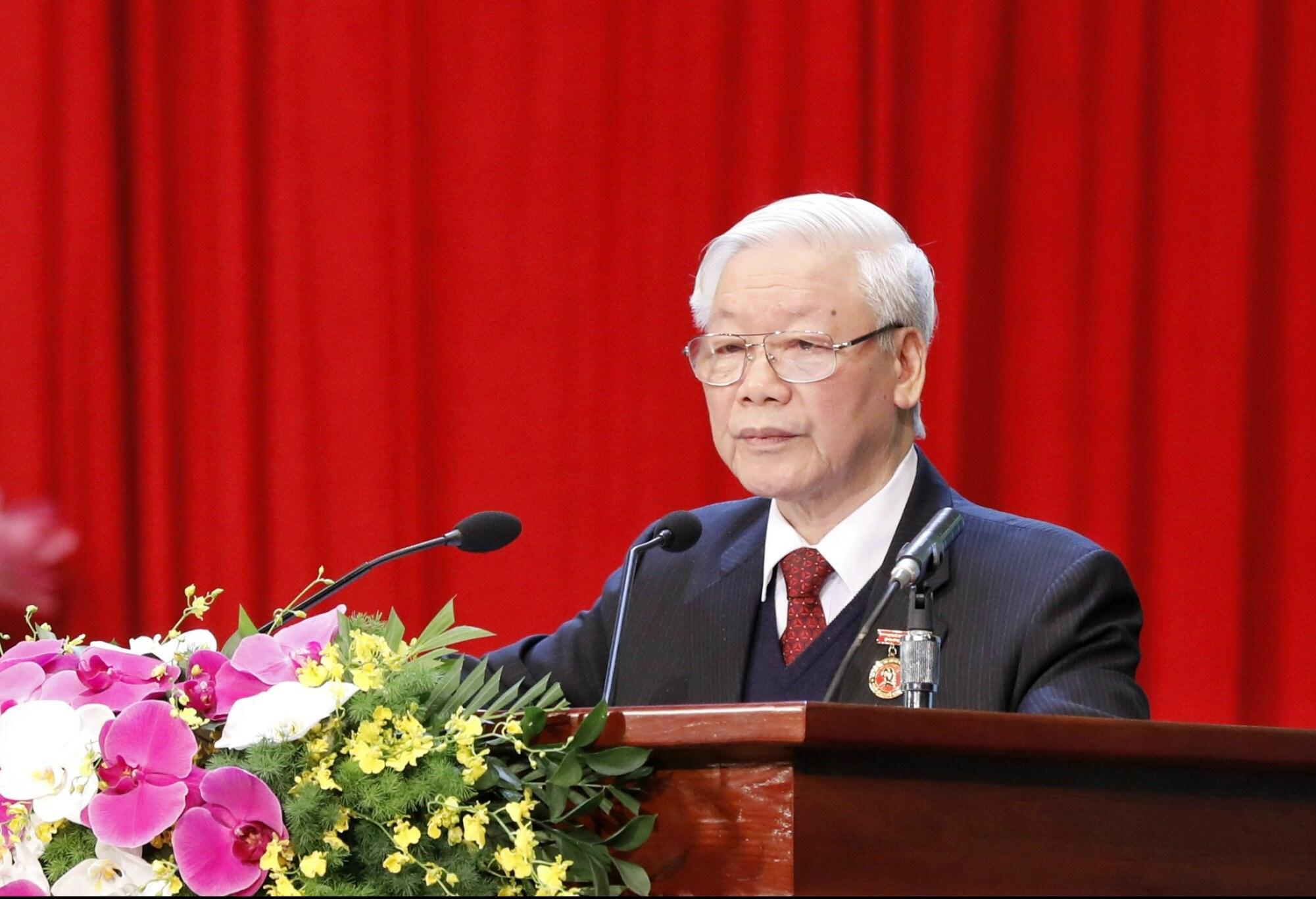 Tổng Bí thư, Chủ tịch nước Nguyễn Phú Trọng đọc diễn văn chào mừng tại Đại hội