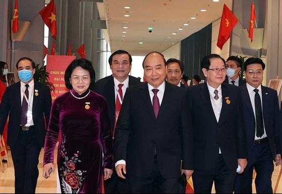 Thủ tướng Chính phủ Nguyễn Xuân Phúc và các đại biểu dự Đại hội