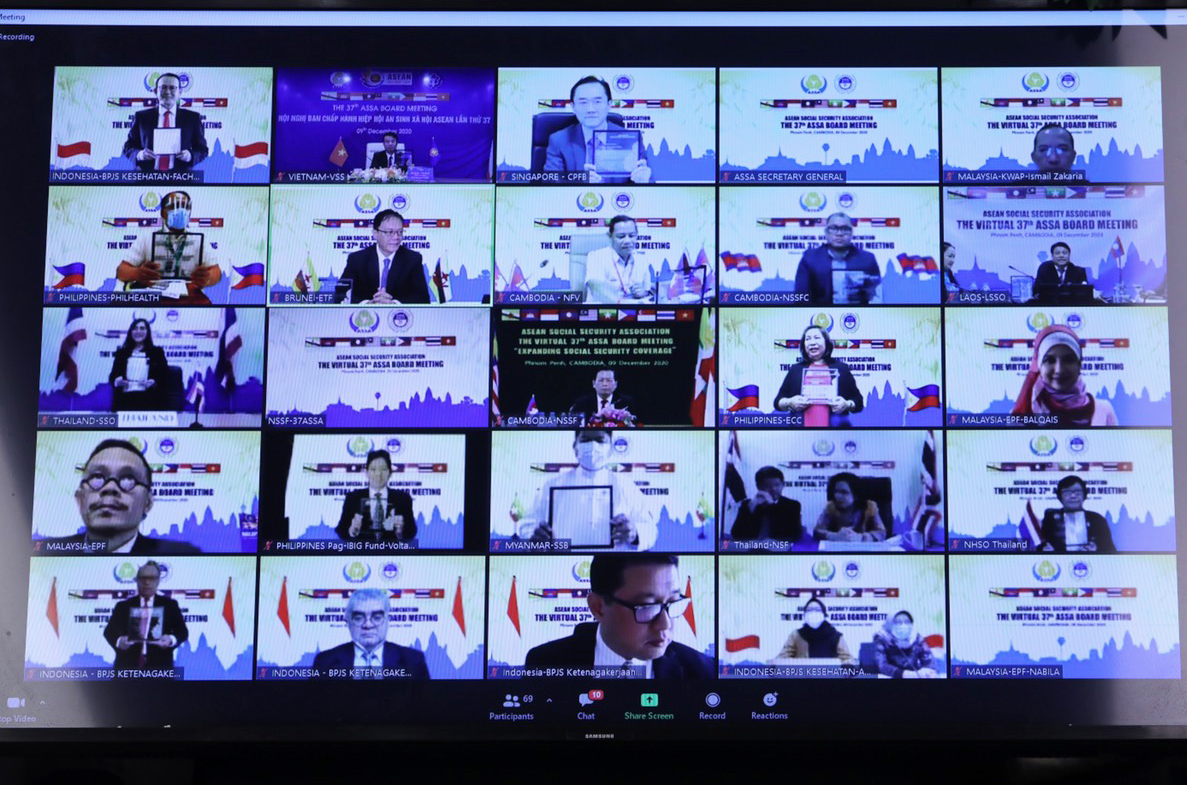 HN ASSA 37 được tổ chức trực tuyến tại 23 điểm cầu của các nước thành viên