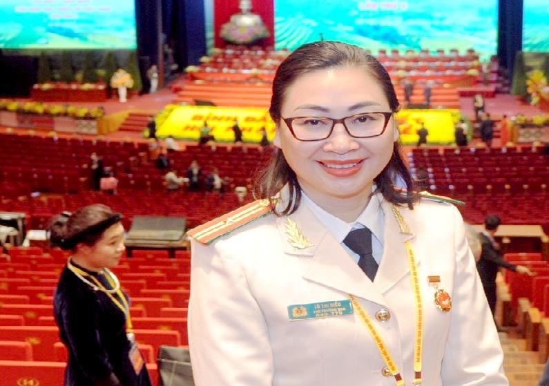 Thiếu tá, nhà báo Lò Anh Hiếu tại Đại hội đại biểu toàn quốc các DTTS Việt Nam lần thứ II năm 2020
