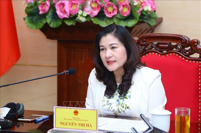 Thứ trưởng Bộ Lao động, Thương binh và Xã hội Nguyễn Thị Hà. Ảnh: Anh Tuấn/TTXVN