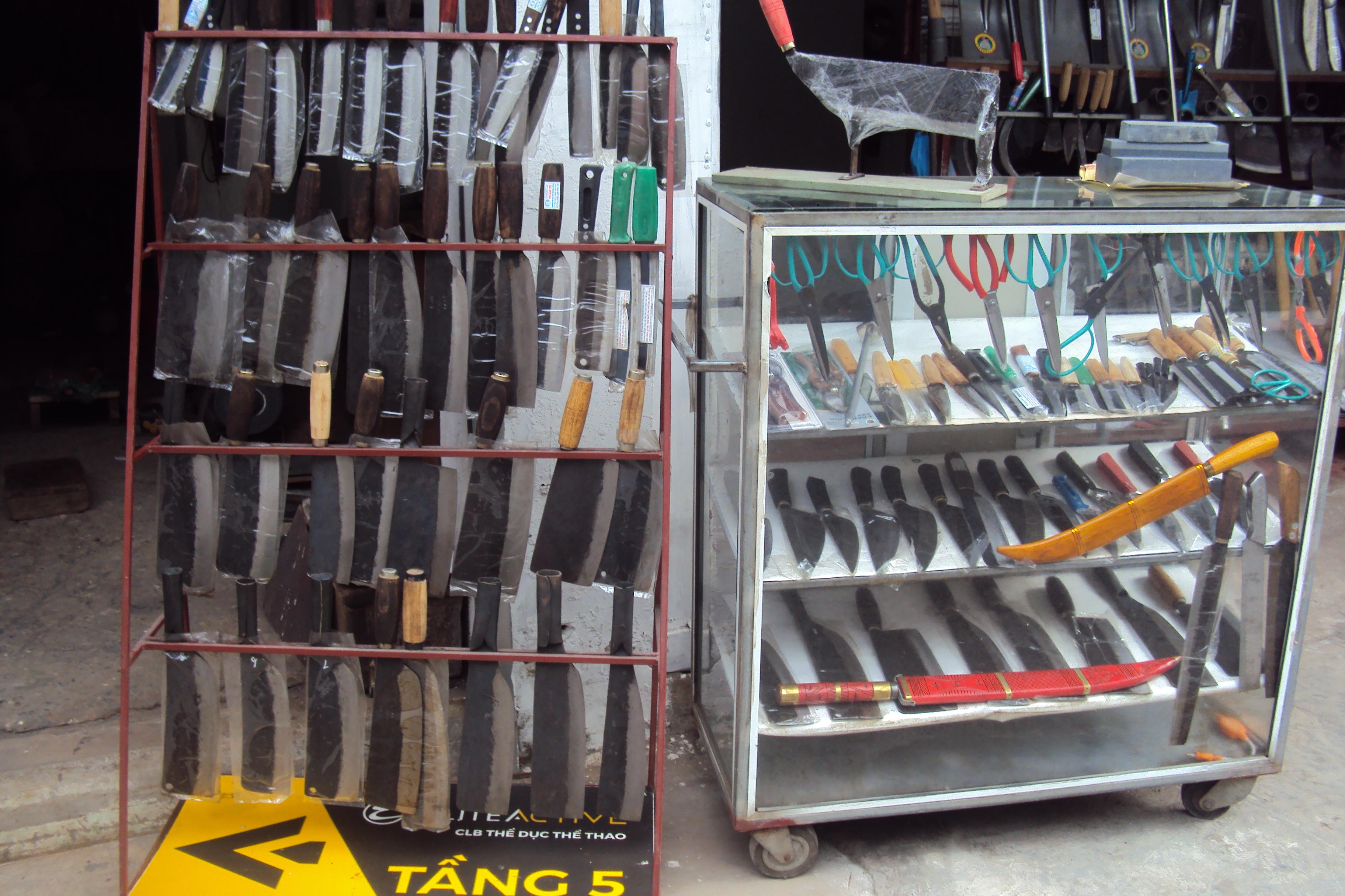 Sản phẩm dao, kéo của Đa Sỹ.