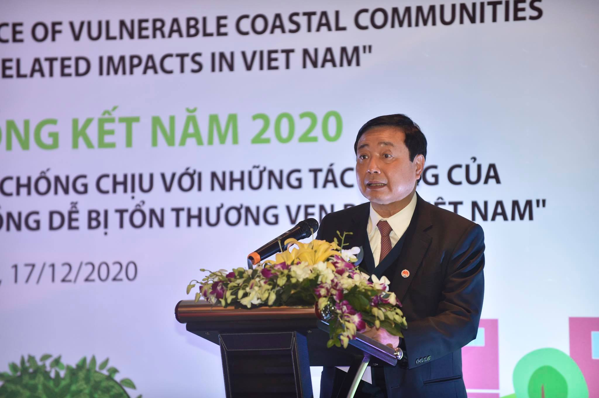 Ông Trần Quang Hoài, Tổng cục trưởng Tổng cục PCTT phát biểu tại hội nghị
