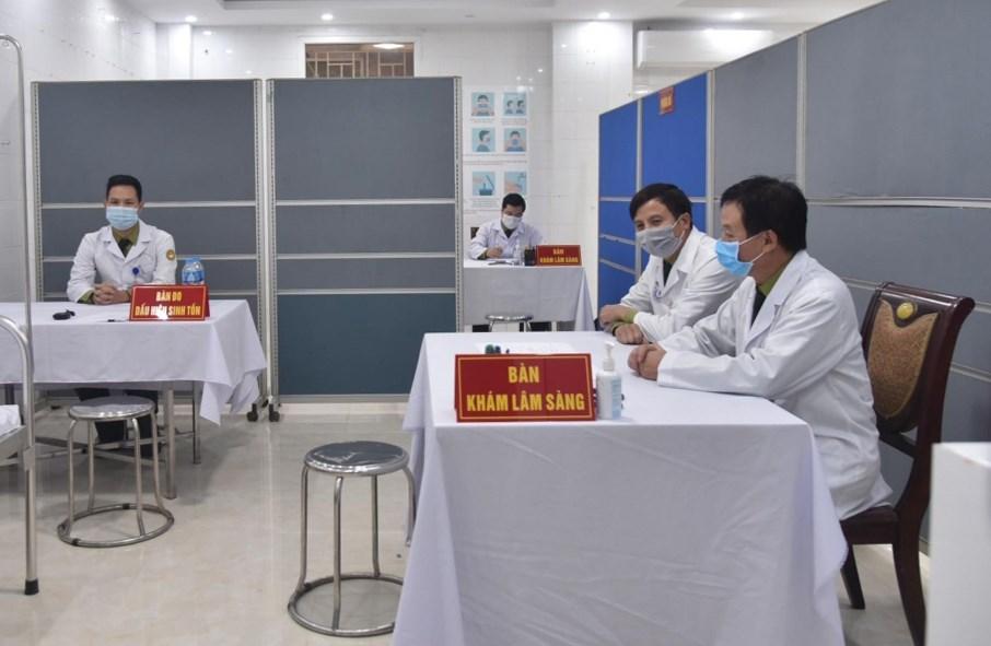 Khu vực khám lâm sàng cho các tình nguyện viên tiêm thử nghiệm vaccine Nanocovax
