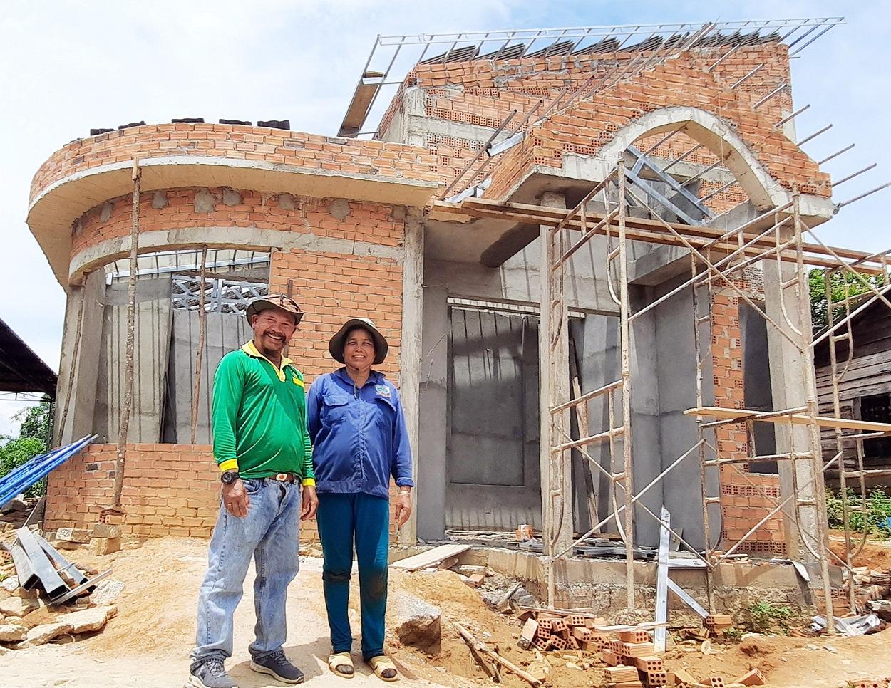 Ngôi nhà mới của chị Ka Hiên sắp hoàn thành