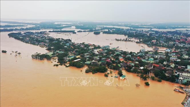 Ngập lụt ở tỉnh Quảng Trị, Việt Nam, tháng 10/2020. Ảnh: Hồ Cầu/TTXVN