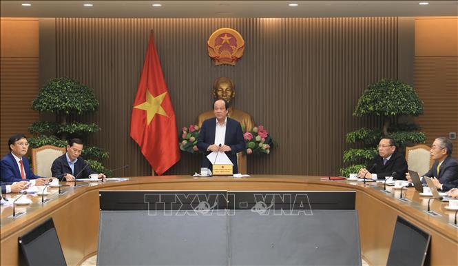 Bộ trưởng, Chủ nhiệm Văn phòng Chính phủ Mai Tiến Dũng phát biểu. Ảnh: Lâm Khánh/TTXVN