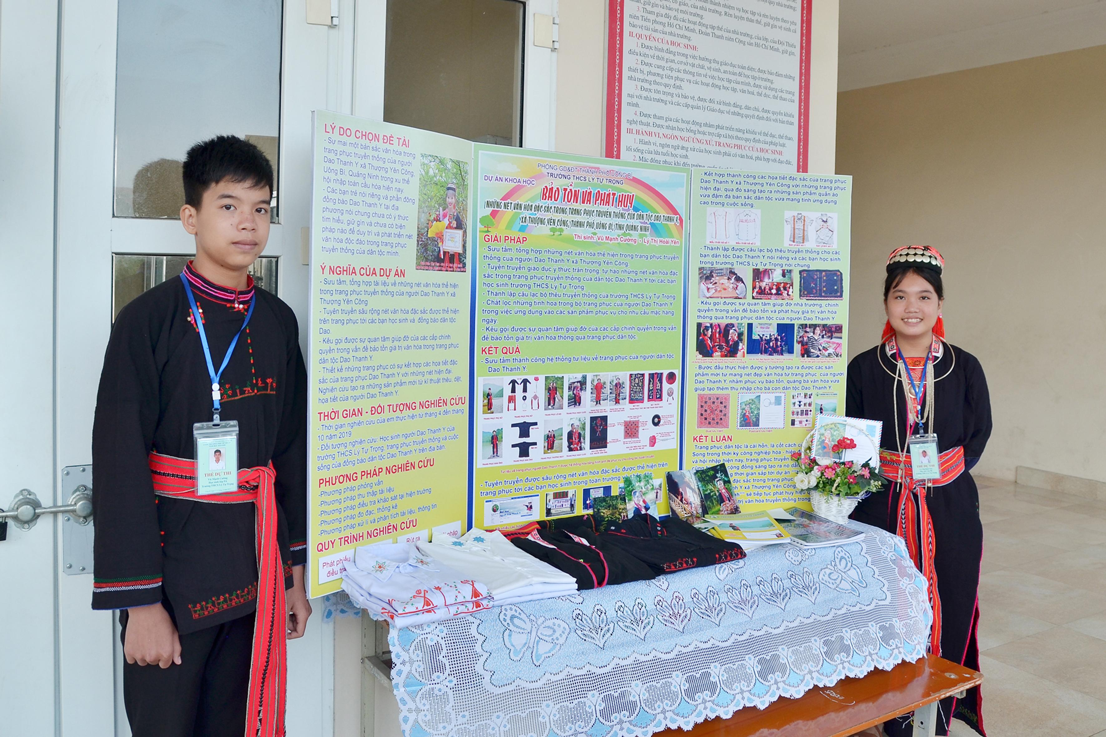 Gian trưng bày sản phẩm khoa học kỹ thuật của Trường tại cuộc thi cấp thành phố